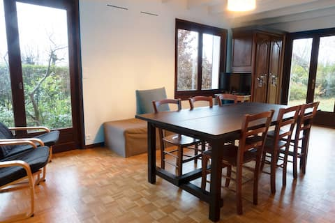 Ground floor apartment with access to garden