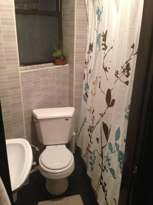 Updated bathroom w/shower