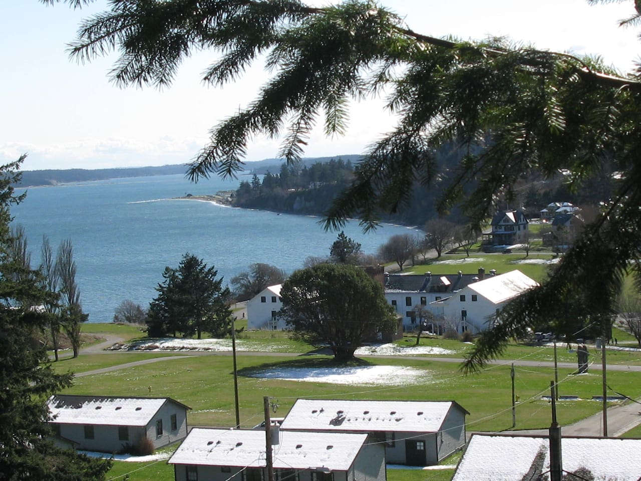 Fort Worden State Park and Puget Sound - they're right across the street!