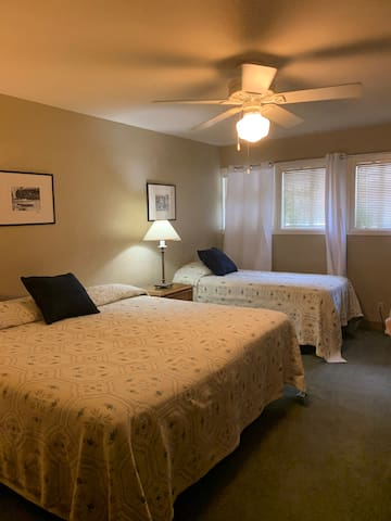 Family room- 1 King Bed & 1 Twin Bed- Private Bath