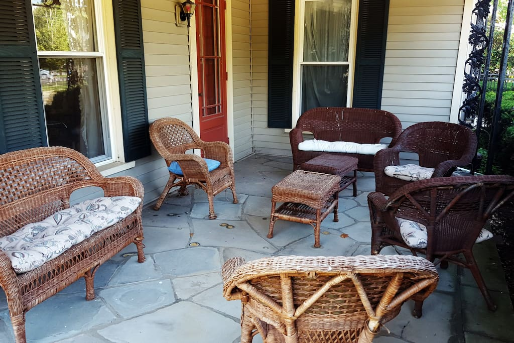 Relax on our private front porch