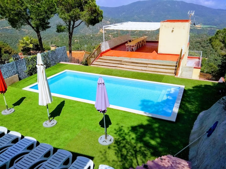 Villa with 6 bedrooms in Lloret de Mar, with wonderful sea view, private pool, enclosed garden