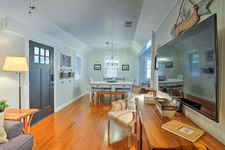 Inspired by HGTV's 'Fixer Upper,' the interior embodies a countryside character.