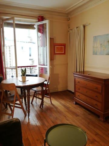 Appartement calme à la porte des buttes chaumont