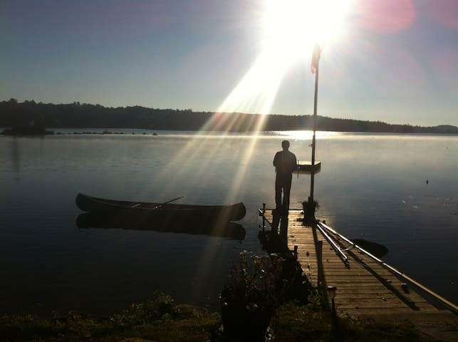 Maine Lakeside Cottage - Bridgton - Cabane