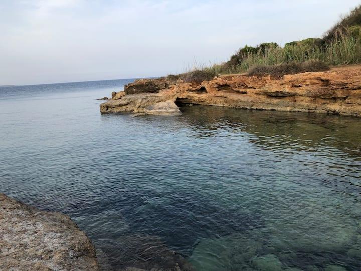 Casa sul mare fra limoni, mandorli ed ulivi