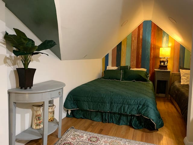 Charming warmth attic recently renovated.