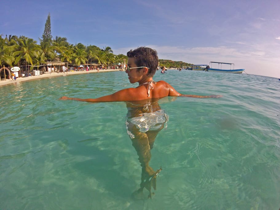 Crystal clear warm water with no waves!