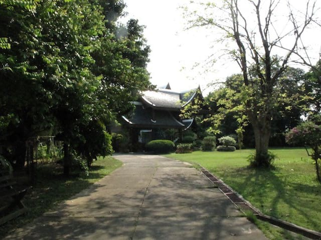 Room, Pond, Huge Garage&Cute Garden - San Sai - House