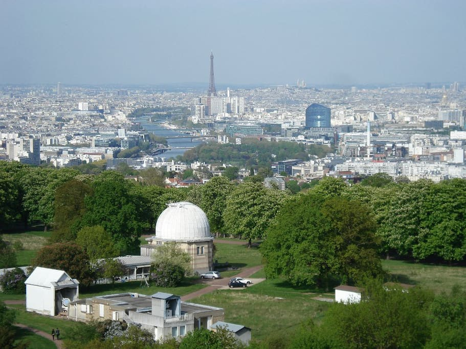 This is the Paris view from the castle grounds 2 minutes walk from the house.