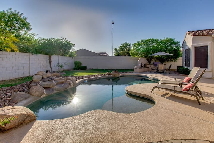 LUXURY LIVING in Ocotillo w/heated pool option  in Gated Golf Community!
