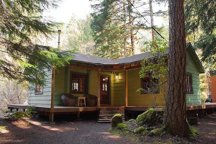 Romantic 1930's Cabin with Hot Tub - Rhododendron - Chalet