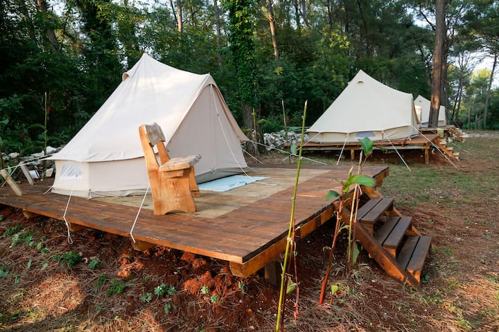 Camp 'Dvor' bell tents / Bell tent 'Nature'
