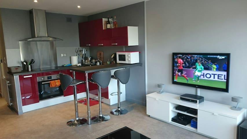 studio avec cuisine ouverte - Cauen