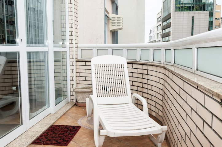 beach chair on the terrace