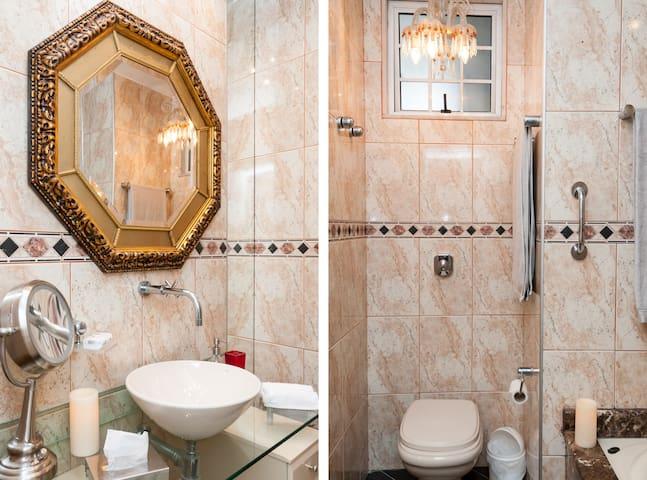 main bathroom with  tub