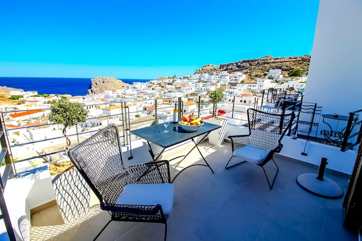 Lindos Beauty  (Sea and Town View)