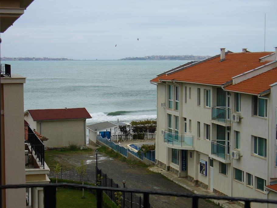 вид на море из терасы