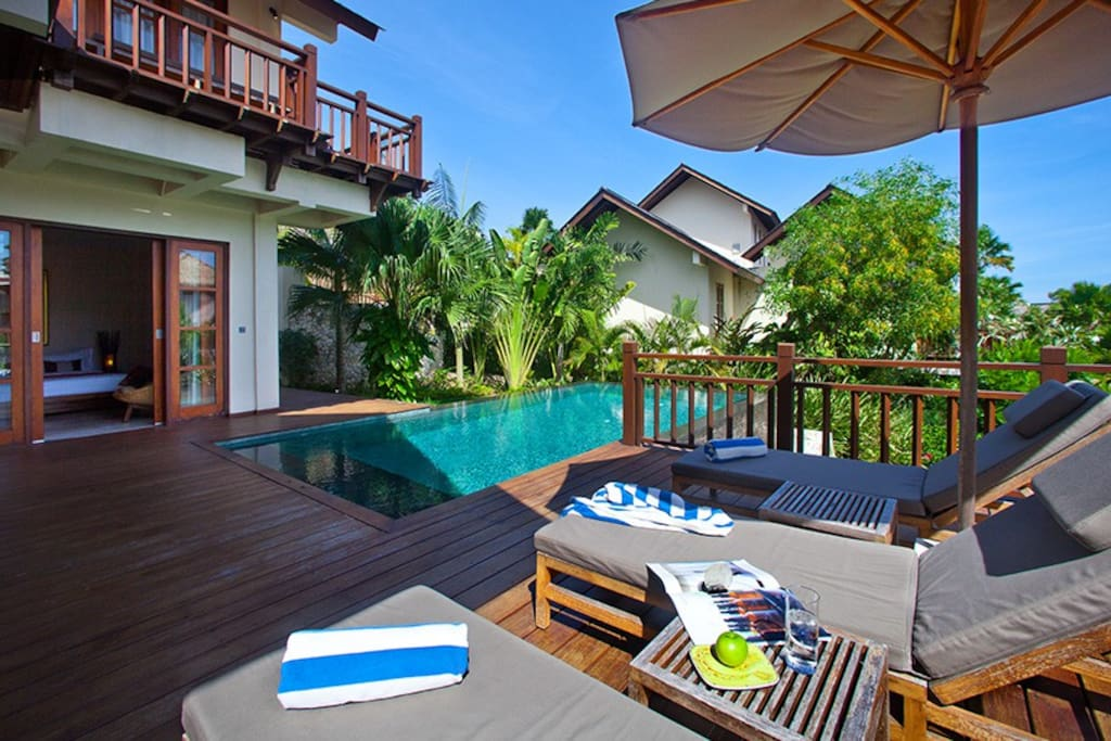 Pool deck for your relaxation