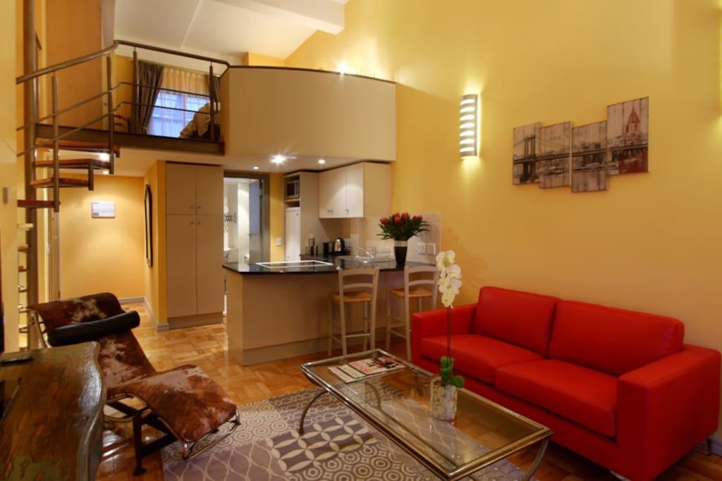 Alexander's 904 one bedroom loft apartment