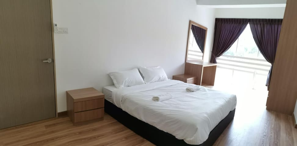 Comfortable and very big master bedrooms   Attached  with toilet
