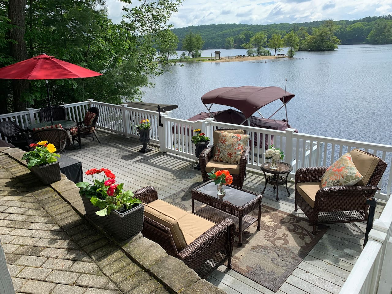 Your view of beautiful Lake Bungee from your deck