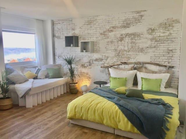 Liebevoll renoviertes Apartment mit Panoramablick