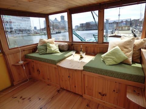 Cozy, romantic, captain's corner in Amsterdam