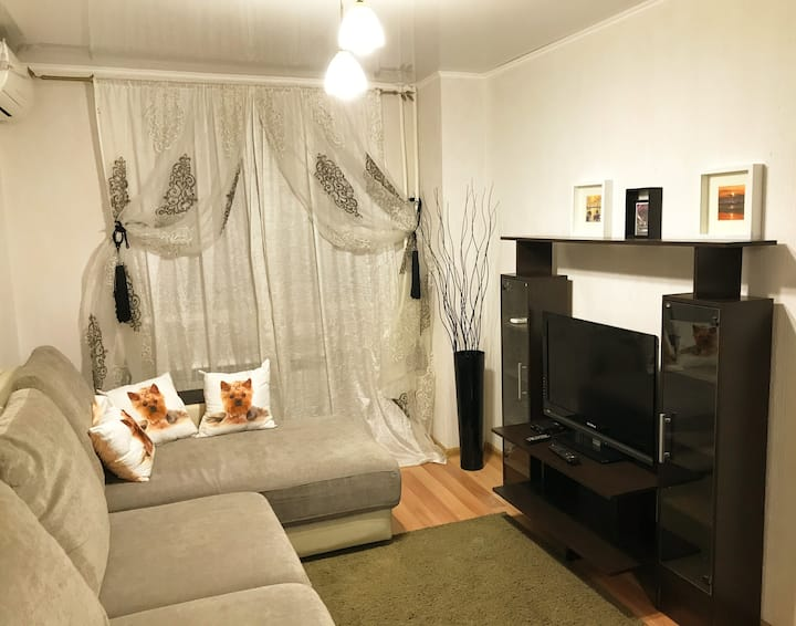 Уютная однокомнатная квартира-студия