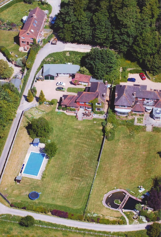 Ariel view of the house