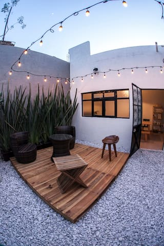 The patio is your living room!