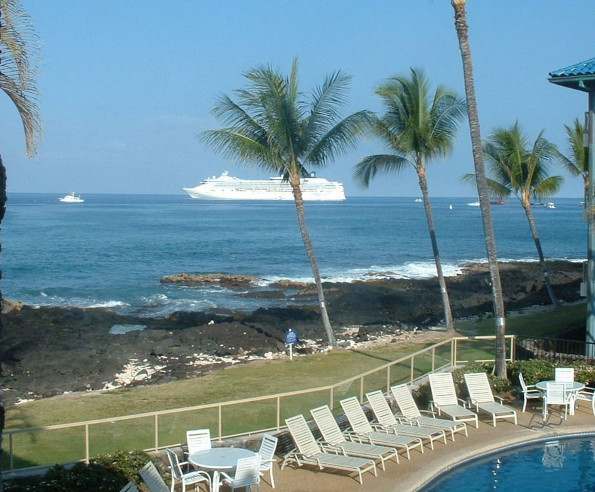 Your view from the condo of all the ocean activities, watch the sub sink hourly