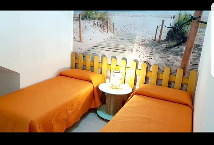 House with 2 bedrooms in Giardini Naxos, with wonderful sea view, balcony and WiFi - 100 m from the beach
