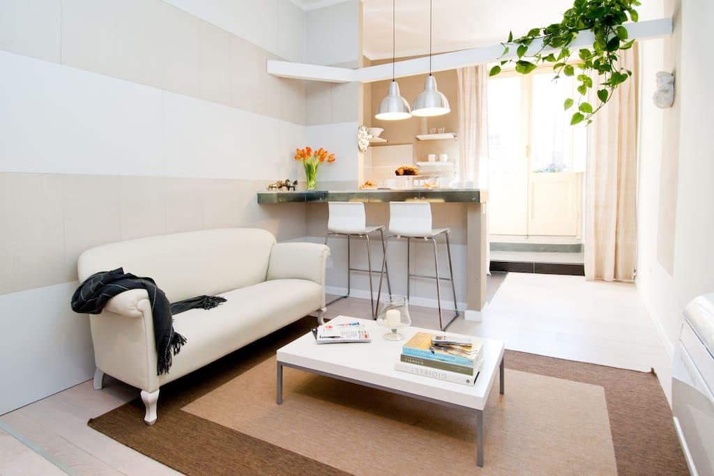Buttafuoco: soggiorno e breakfast corner