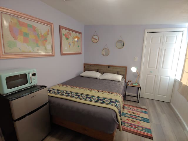 The Casita is the perfect place to cozy up with a book, take a catnap, or get a good night's sleep after a day of adventure.