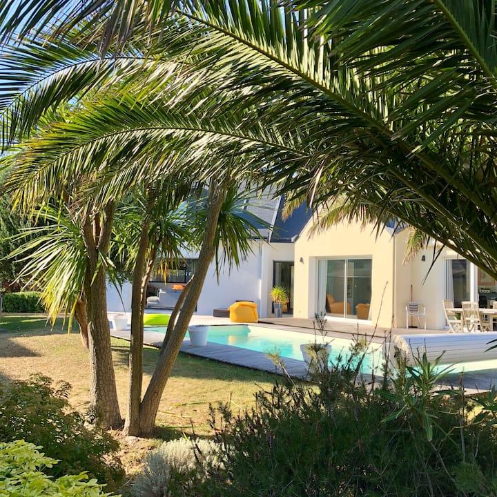 Quiberon, Villa moderne avec piscine chauffée