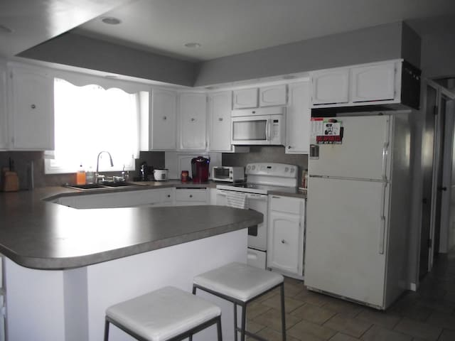 The Kitchen also has Dishware and Cutlery, Keurig, Rice Cooker, and a Toaster Oven.