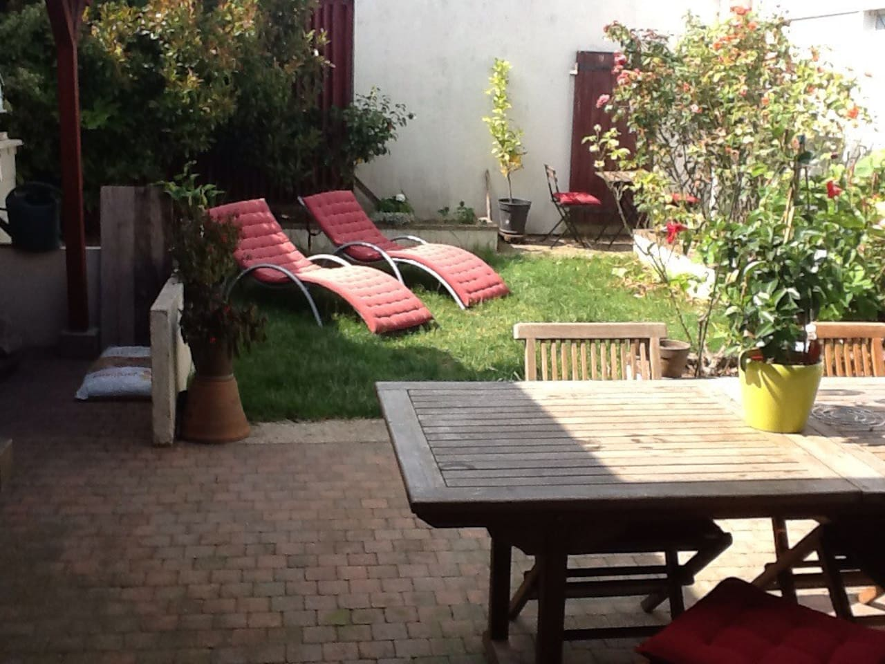 Jardin terrasse barbuc