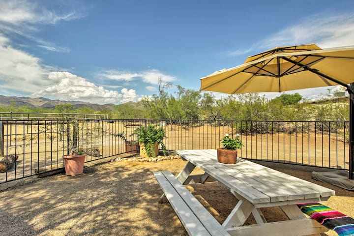 Tucson Casita w/ Fireplace: View Animals+Mtn Range