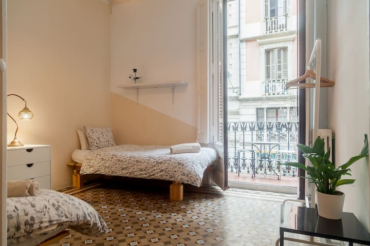 Air Conditioned, Sunny , Twin Beds with a Balcony