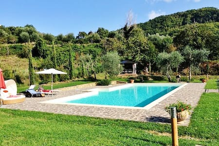 Tuscan villa with large pool - Montelaterone