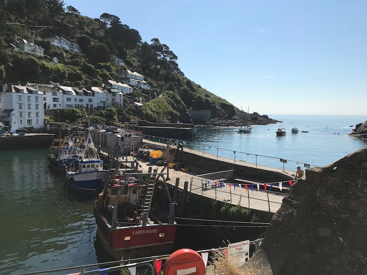 West Cliffe, Polperro -Fab Sea and Harbour Views!