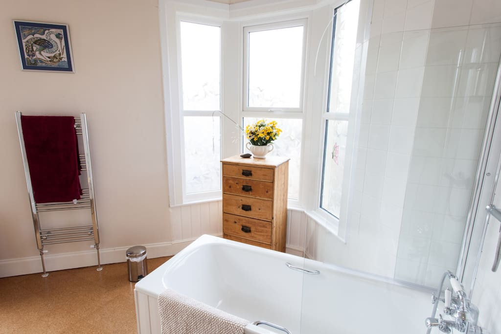 the upstairs bathroom bay window