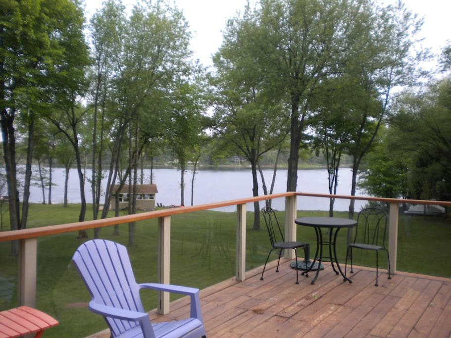 Gorgeous view of private lake from deck.