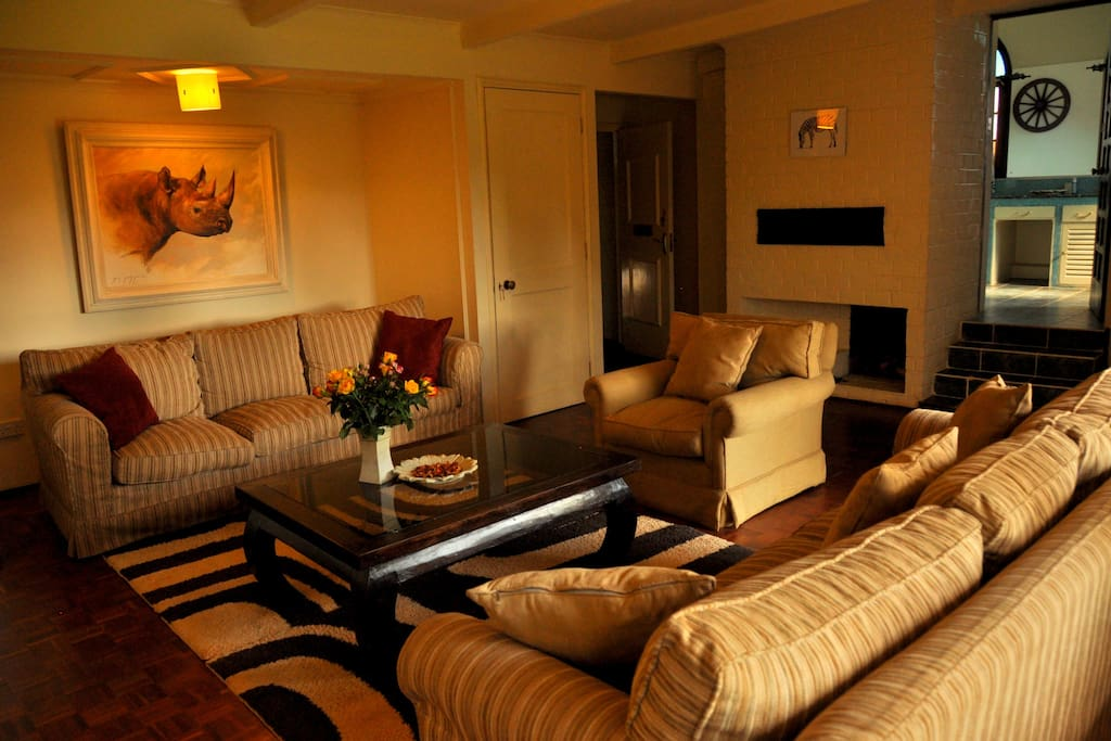 Twiga Suite Sitting room with the stunning views of the Ngong Hills