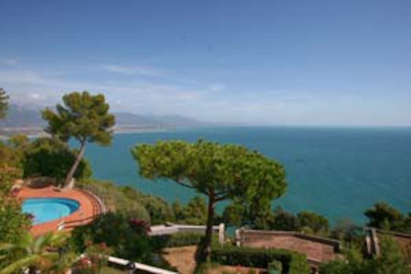 This is the view you have from your terrace! All the Tuscan coast all the way to Livorno and marble queries