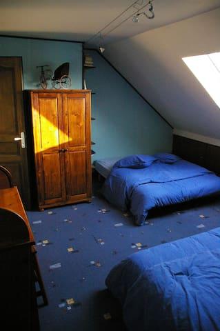 Chambre en sous pente