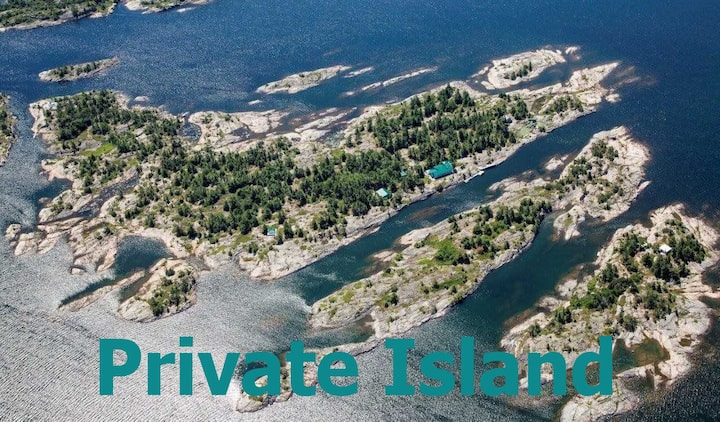 Bigwood PRIVATE ISLAND for 20 in Georgian Bay WIFI
