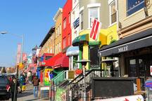 Admas Morgan restaurants and  nightlife only half a block away!