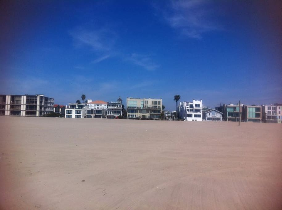 View of the apartments from the beach.
